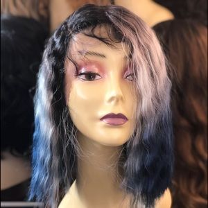 Accessories - SidePart ombré crimping wig 2020 Lacefront wig